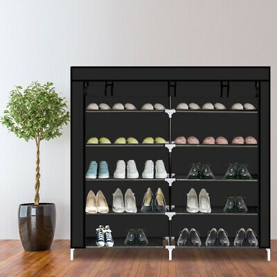 Details About Hot Rack Shoe Storage Organizer Cabinet Tower Non Woven Fabric Cover Dustproof In 2020