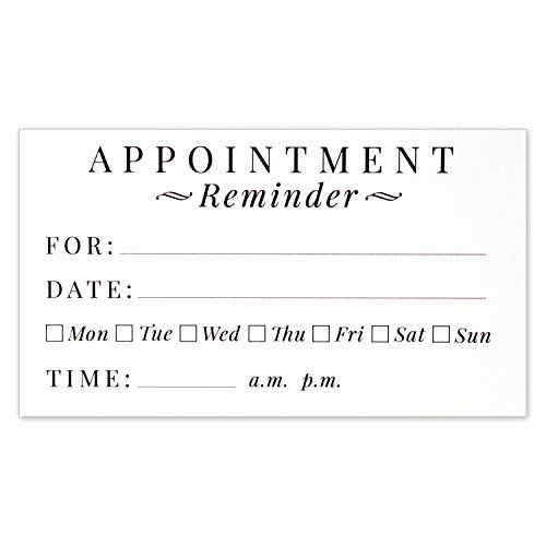 Appointment Reminder Cards Template Unique Appointment Cards Amazon Business Card Appointment Card Templates Free Card Template