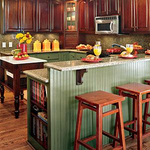 Sink backsplash for u-shaped kitchen with island.