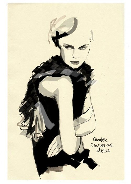 Group of: Fashion Illustration / Francesca Waddell Fashion ...