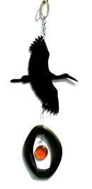 Mini Wind Chimes by Bottle Benders. American Made. See the designer's work at the 2016 American Made Show, Greenville SC May 17-19, 2016. americanmadeshow.com #americanmadeshow, #americanmade, #recycled, #recycledglass, #windchime, #heron, #bird