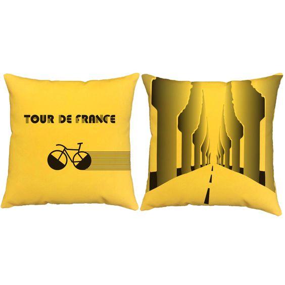 Art Deco Tour De France Throw Pillows