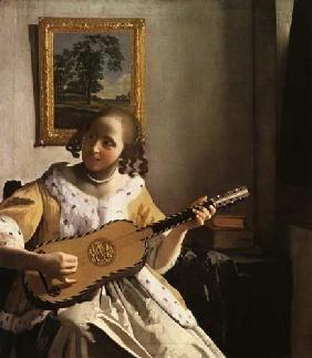 Jan Vermeer van Delft - Die Gitarrenspielerin