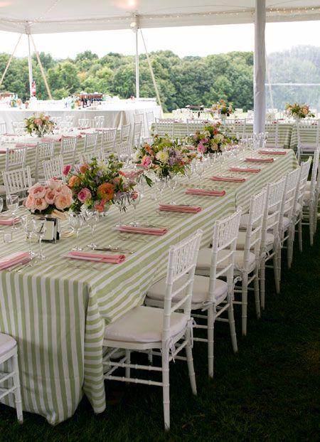 Soft, Romantic Flowers for an Elegant Garden Wedding : Brides, nice table