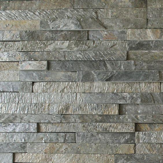 Wandverkleidung Naturstein Paneele :   Nahaufnahme Wandverkleidung Interlog Paneele Oberfläche spaltrau
