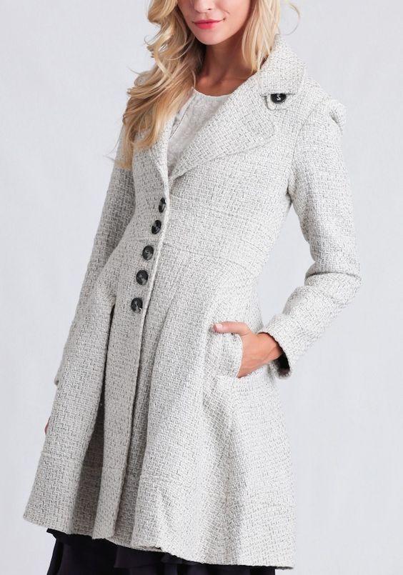 Winter Awaits Tweed Coat
