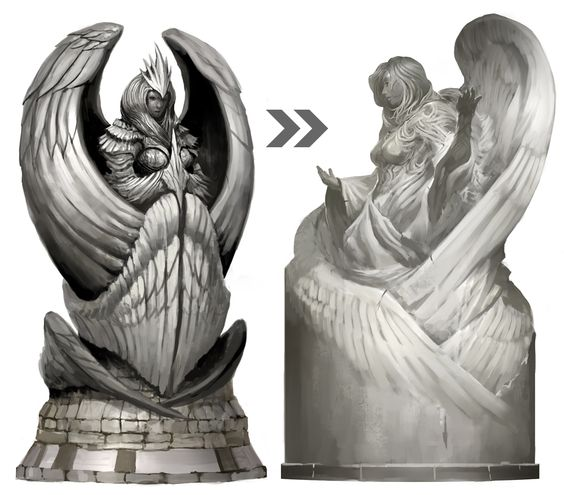 Dwayna statue from Guild Wars 2