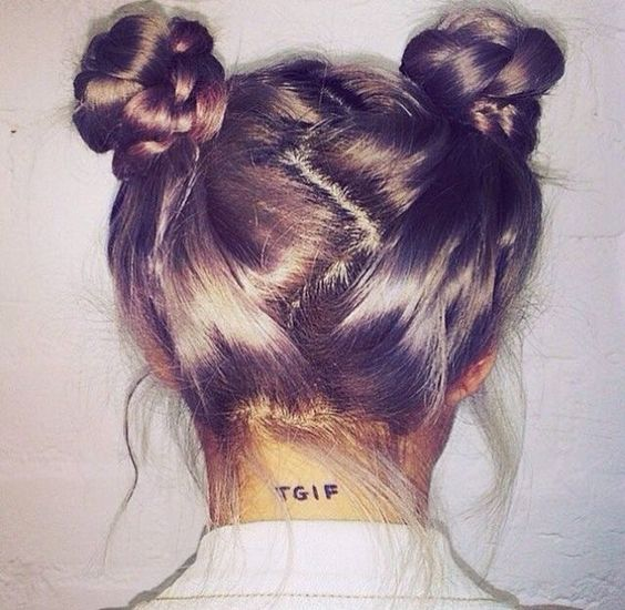 awesome Try out the rising hair trend Space Buns this spring break!...