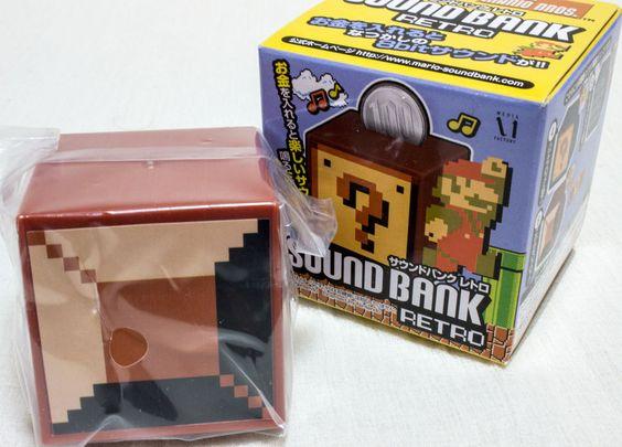 Super Mario Bros. Sound Bank Retro Unbreakable Block Figure JAPAN NES