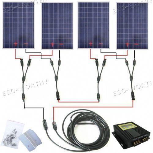 400w Solar Panel Complete Kit 4a100w Solar Panel With Mppt 24v Home Solar System Homesolarcarbonfootprint In 2020 Solar Energy Panels Solar Panels Best Solar Panels