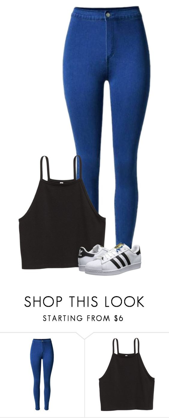 """Casual"" by wafflez-cry-syrup ❤ liked on Polyvore featuring adidas Originals"