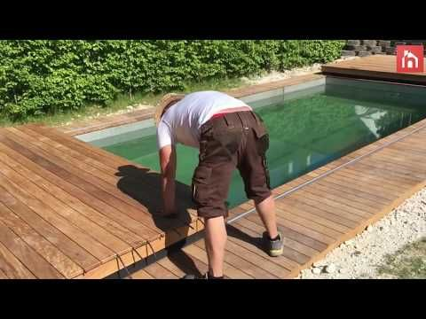 Incredible Disappearing Swimming Pool Cover Doubles As A Deck Youtube Diy Swimming Pool Pool Cover Swimming Pools
