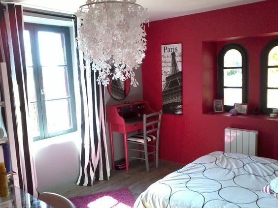 Chambre framboise ado d co londres pinterest - Chambre couleur framboise ...