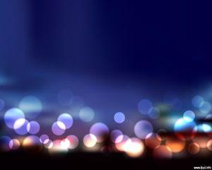 Este efecto borroso en PowerPoint se logró mediante el uso de Photoshop y PowerPoint a través de una imagen con las luces