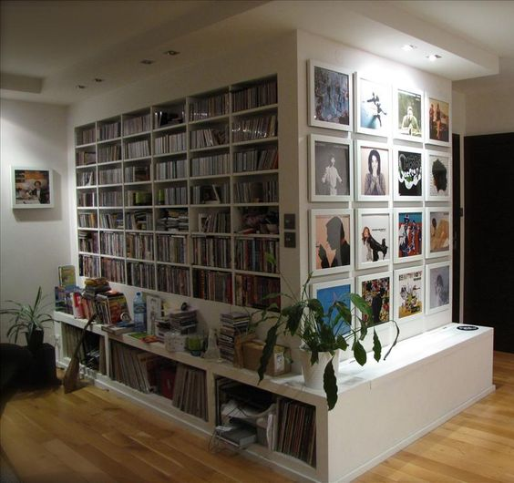 Art Vinyl fan in Poland with a wall of sound. This is so fabulous. Love the Album Cover Framed Images with the storage for music! I'm so inspired by this to create a Music Library in my own home! :D Yes. Definitely. Books, Music, and Films Library has just gotten bigger! I mean... the size of the whole house!