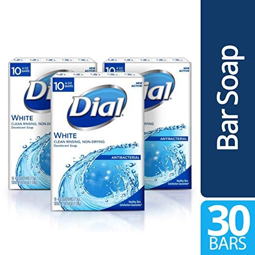 Dial Antibacterial Bar Soap White 30 Count Review Dial Soap Bar Soap Antibacterial Soap
