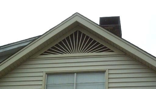 12 Inch W X 12 Inch H X 1 1 8 Inch P Round Gable Vent Louver Functional Gable Vents Louver Vent Ekena Millwork