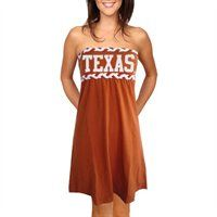 Texas Longhorns Ladies Burnt Orange Braided Dream Tube Dress