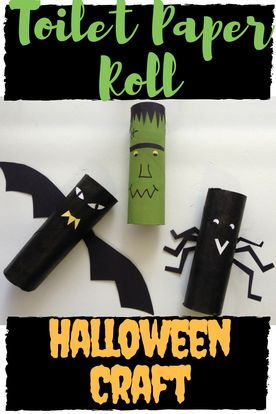 Start saving up those toilet paper rolls! This Halloween craft for kids has so many possibilities for creativity! A few other fun ideas would me a black cat, a green witch or a mummy with toilet paper as the dressings!