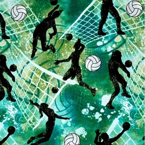Allstars Sports Volleyballs Women S Volleyball Action Cotton Fabric Fabric Volleyball Quilts