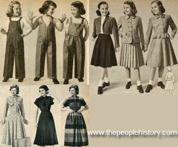 1950 Girls Outfits Skirt And Jacket Suits Were Popular