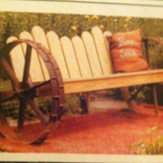 Wooden benches wagon wheels and old wagons on pinterest for Things to do with old wagon wheels
