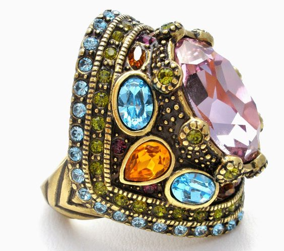 The Jewelry Lady's Store: Heidi Daus Amethyst Crystal Statement Ring