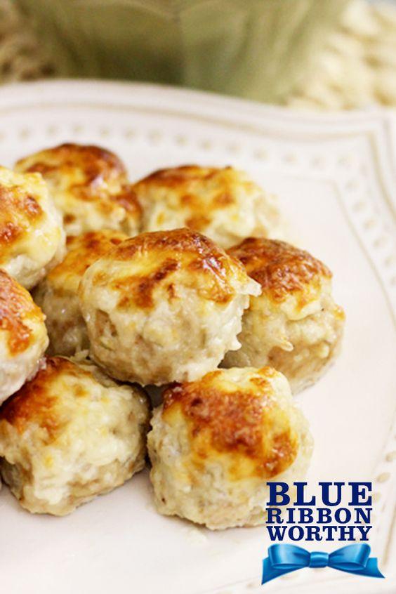 Cheesy Chicken Meatballs | Recipe | Coats, Baking and Chefs