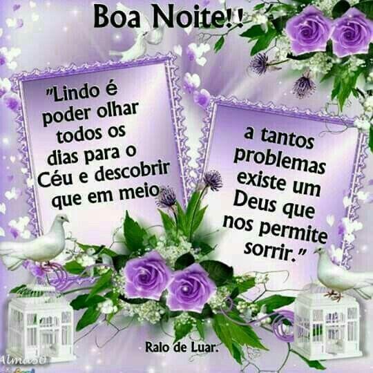 Boa noite na paz de Deus