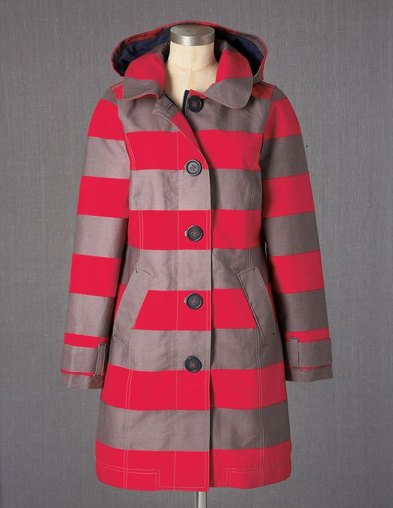 Rainy Day Mac WE408 Coats at Boden: Mac Boden, Stripe Rainy, Bodenclothing Rainy, Coats Jackets, Ground Color, Bright Red, Boden 178, We408 Coats, Boden Rainy