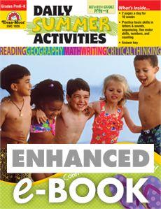 Daily Summer Activities: Moving from PreK to Kindergarten, Grades PreK-K - E-book: Evan-Moor.com