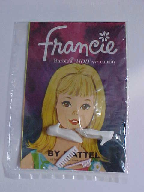 1965 Mattel Francie Booklet Mint w/ shoes & combs MIP