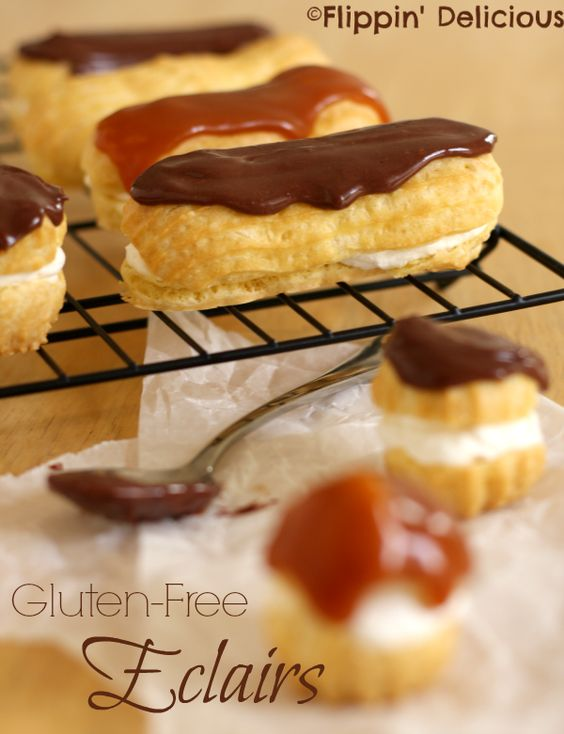 #GlutenFree Eclairs and Cream Puffs are made simple in this easy recipe, but still oh so elegant!