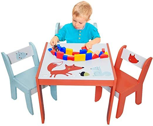 Labebe Wood Table Set For Kids 1 5 Years Activity Table Chair Set Study Table And Chair For Child In 2020 Study Table And Chair Games For Toddlers Table And Chairs