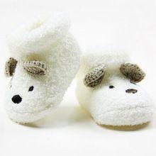 1 paar winter warm peuter pasgeboren sokken unisex jongen meisjes zuigeling mooie beer wieg warme schoenen 0-12 maand(China (Mainland))