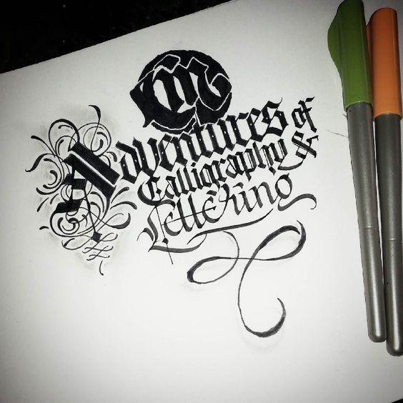 'CM @calligraphymasters Adventures of Calligraphy & Lettering #calligraphy #calligraphymasters #calligraffiti #paindesignart #handlettering #freehand #lefthand #lettering #gothic #italic #effect by paindesignart