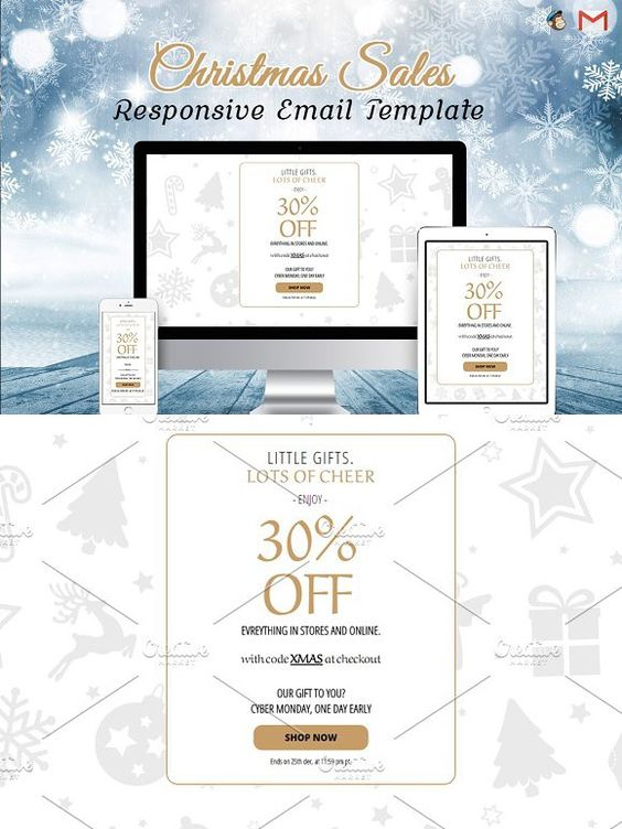 Christmas Sale Email Template Email Templates  Email Templates
