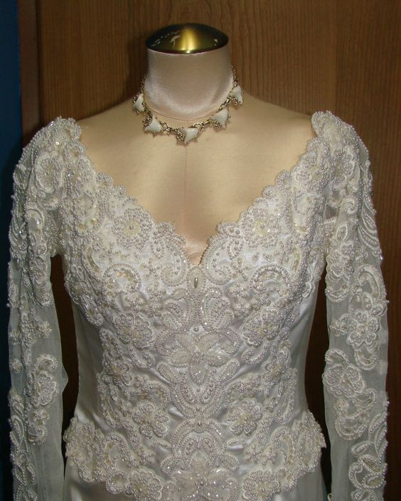 Vintage 90s Eden Bridal NWT NOS Long Sleeve by thescarletmonkey, $80.00