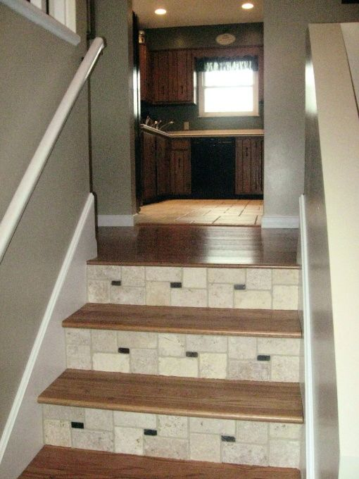 Bi Level Exterior Remodeling: Split Foyer, Stairs And Laying Tile On Pinterest