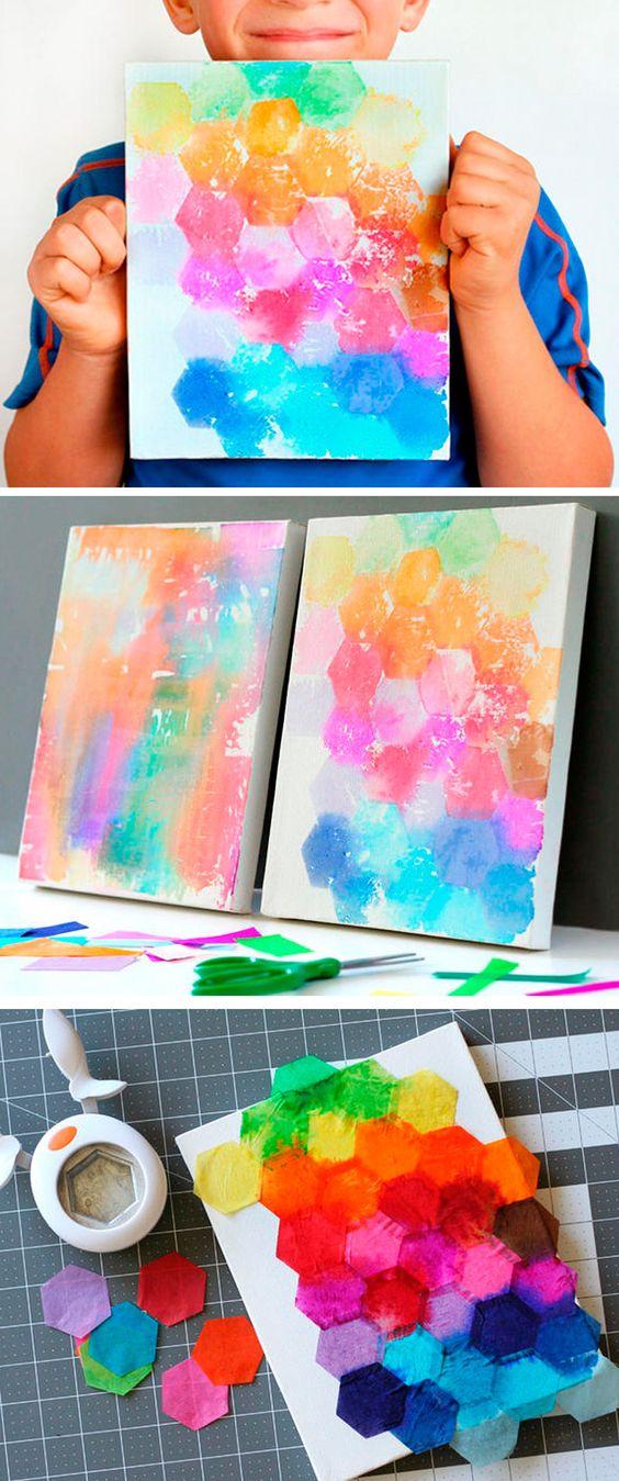 canvas ideas paint paper art art projects fun art fun fun art projects. Black Bedroom Furniture Sets. Home Design Ideas