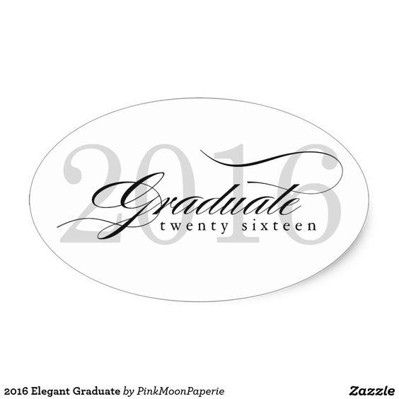 2016 Elegant Graduate Oval Sticker