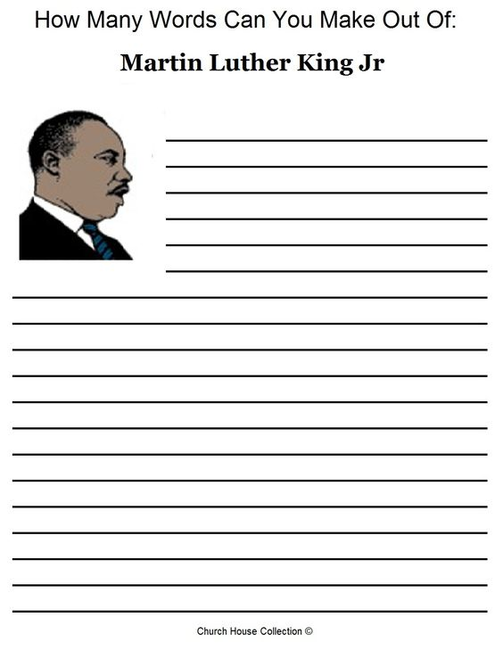 Workbooks Martin Luther King Jr Worksheets Printable – Martin Luther King Jr Worksheets Free