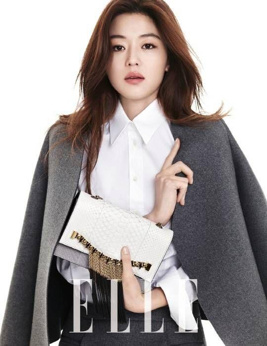 Jun Ji Hyun is simply chic for 'Elle' | http://www.allkpop.com/article/2014/01/jun-ji-hyun-is-simply-chic-for-elle