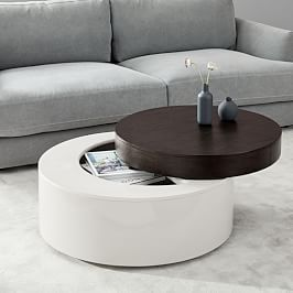 Stacked Disk Storage Coffee Table Walnut Anthracite With Images