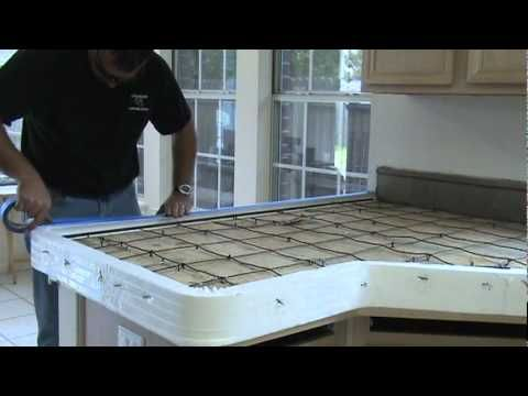 How To Make A Concrete Countertop Kitchen Ideas Pinterest Building Materials Videos And