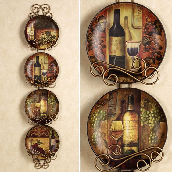 Vineyard window and wine on pinterest for Wine and grape themed kitchen ideas
