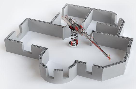 Un ingénieur russe a transformé une grue en imprimante 3D pour fabriquer de grandes habitations en moins de 24 heures de façons écologique !