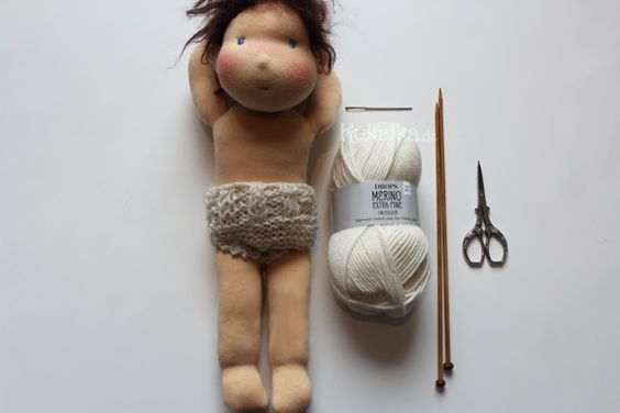 Free Knitting Pattern for Doll Undies by kukalka.com / Kostenlose Strickanleitung für ein Puppen Höschen by kukalka.de