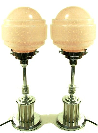 Art Deco pair of lamps