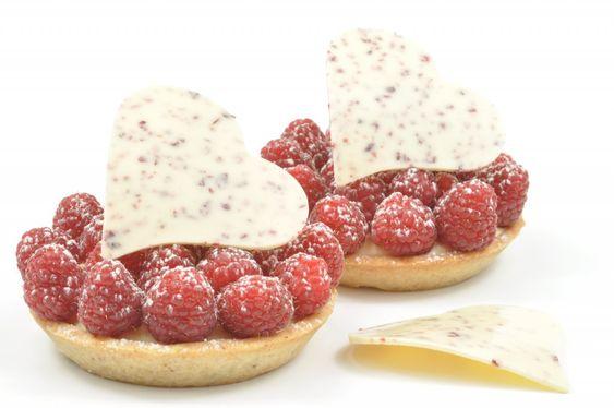 ... raspberry ganache, mascarpone cream & fresh raspberries; all topped
